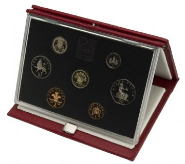 1991 Proof set red Leather deluxe